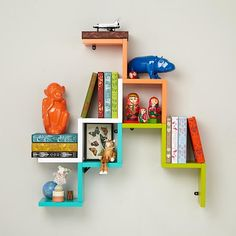 I LOVE the look of these shelves, but the price is high. Looks pretty easy to make, though.