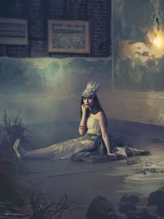 """""""Victory Voyage, medium edition"""" by Miss Aniela. Colour photograph on Paper, Subject: Abstract and non-figurative, Surrealistic style, From a limited edition of 5, Signed and numbered certificate of authenticity, This artwork is sold unframed, Size: 66 x 87 x 0.1 cm (unframed), 25.98 x 34.25 x 0.04 in (unframed), Materials: Giclée on Hahnemühle Photo Rag Pearl"""