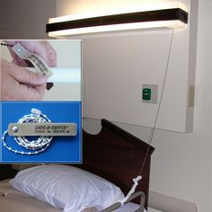 "Save-A-Switch  Patients have all chains at an arm's length  Installation ready | No tools required; installs in seconds | No more lights broken in the ""On"" position 