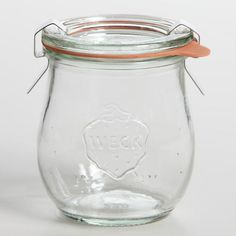 One of my favorite discoveries at WorldMarket.com: 1/5 Liter Glass Weck Jar - They are so pretty for salads - I used the 1 liter jars