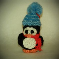 amigurumi crochet stuffed penguin Christmas tree ornament decoration doll by WiseFriday on Etsy