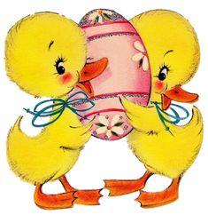 Long time no post. Halloween Vintage, Vintage Holiday, Easter Greeting Cards, Vintage Greeting Cards, Crafts With Pictures, Vintage Valentine Cards, Easter Parade, Easter Printables, Vintage Easter