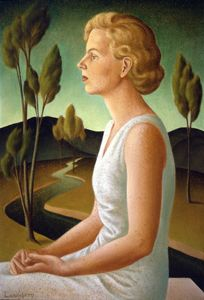 Helen Lundeberg ~ Portrait of Inez, (1933) ~ American Painter ~ Post-Surrealism ~ 36 x 24 inches - Helen Lundeberg - Wikipedia