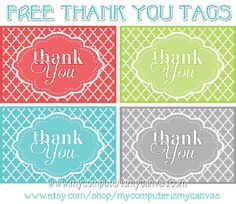 My Computer is My Canvas: {FREEBIE} PRINTABLE THANK YOU TAGS