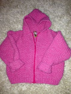 Girl's knitted hoodie with secret Mini Mouse :-)