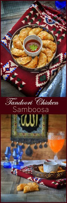 Tandoori Chicken Samosa is bite-sized parcel of spicy tandoori chicken filling encased in a crispy, buttery samboosa shell.
