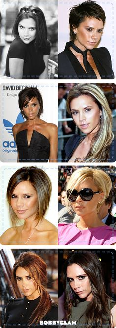 The many looks of Victoria Beckham
