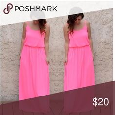 LAST ONE⭐️ Boutique ⭐️ Hot Pink Maxi Dress NWT HOT pink Maxi dress 💕 size small Dresses Maxi