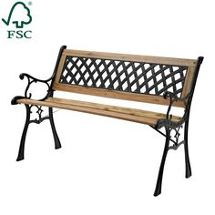 Marquee Lattic Back Park Bench - Bunnings Warehouse
