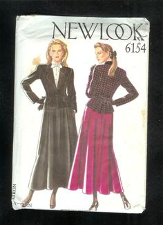 New Look 6154 Flared 4 Gored Skirt And Fitted Jacket  by lucysbud, $12.50