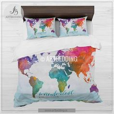 Cheaper but still quirky bedding and lots of it all sizes love cheaper but still quirky bedding and lots of it all sizes love this map duvet cover 3 duvet map bettwsche pinterest double duvet covers gumiabroncs Gallery