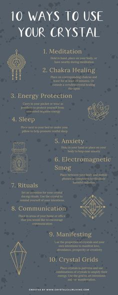 Ten ways to use your crystals for spiritual self-healing. Ten ways to use your crystals for spiritual self-healing. Chakra Healing, Self Healing, Healing Herbs, Chakra Crystals, Crystals And Gemstones, Stones And Crystals, Wicca Crystals, Crystal Healing Stones, Crystal Magic