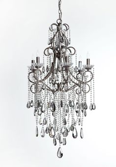 Smoked Crystal 6 Light Chandelier