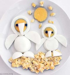 Funny Food Art - penguins