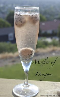 """The """"Mother Of Dragons"""" champagne cocktail. 