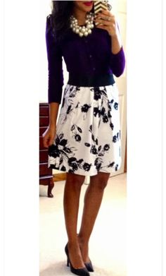 I really like the pattern of the skirt, and the length