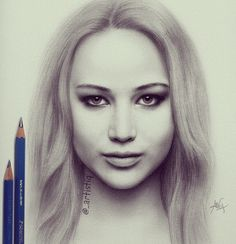 Amazing drawing of Jennifer Lawrence!!