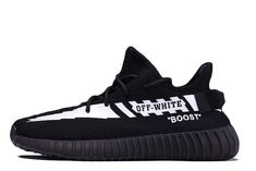 Off-White® x Adidas Yeezy Boost 350 'Schwarz' - Schuhe Sneakers Mode, Sneakers Fashion, Shoes Sneakers, Fashion Outfits, Hypebeast, Yeezy 350 V2 Black, Mode Adidas, Espadrilles, Adidas Yeezy 350 V2