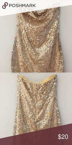 Gold Glitter Dress Size S By Forever 21 Gold Glitter Dress Size S By Forever 21  - New without tag, Never been worn Forever 21 Dresses