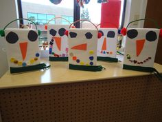 Snowman Cereal Box Craft