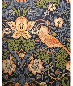 Engelska Tapetmagasinet - Strawberry Thief William Morris tapet Archive Wallpapers II