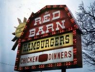 The Red Barn rides again! At least in pictures. Vintage Signs, Retro Vintage, Vintage Restaurant, Old Signs, I Remember When, Good Ole, The Good Old Days, Childhood Memories, Give It To Me