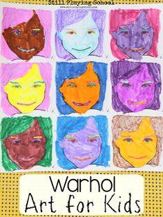 Still Playing School: Warhol Inspired Art for Kids