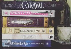I was tagged for #describeyourselfin3fictionalchacters .  Also #SpellYourNameInFictionalCharacters from @writing_moonlight  so I've tried to kind of combine them.  Let's see if it worked... D - Donnatella from Caraval of whom I am not a fan. A - Alexia from Soulless who I also relate to in a big way.  She loves to eat and shoots off her mouth. N - Nicko from the Septimus Heap series.  I had mixed feelings about him near the end . A - Agnieszka from Uprooted. -Isabella from the A Natural…