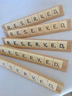 Reserved Sign For Pub, Restaurant, Cafe...or Wedding www.facebook.com/Funkyjunk.Upcycled.UK