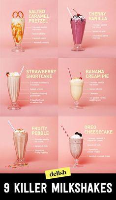 21 killer milkshakes that will rock your world - Starbucks tarifleri - Rezepte Easy Smoothie Recipes, Easy Smoothies, Smoothie Drinks, Dessert Recipes, Easter Recipes, Vegetable Smoothies, Diner Recipes, Jelly Recipes, Fruit Smoothies