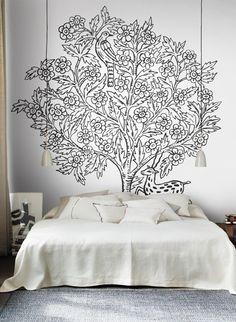 Baum als Wandmotiv: Wandbild Eden von Sandberg #schlafzimmer #tapete