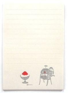 letter 星燈社 ざらざら紙のレターセット かき氷