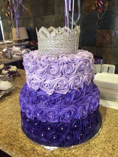 Start with the darkest shade at the bottom layer and do the rest of the layers on top a shade lighter and lighter. - See more at: http://www.quinceanera.com/decorations-themes/ombre-quinceanera-ideas/#sthash.FO6y7Tx1.dpuf