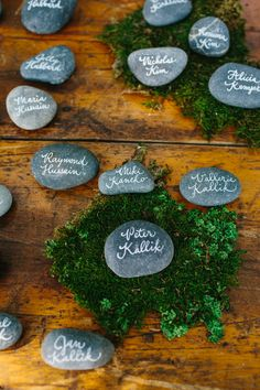 #escort-cards, #rocks    Read More: http://www.stylemepretty.com/2013/10/14/camarillo-wedding-from-marianne-wilson-photography/