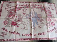 Embroidery, Tableware, Hungary, Vintage, Needlepoint, Dinnerware, Tablewares, Vintage Comics, Dishes
