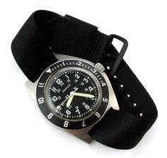 Adanac - vintage military watch - Gallet Marathon 1980s