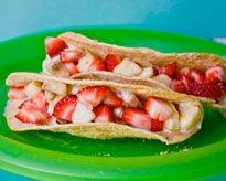 Cinnamon Sugar Dessert Tacos -- looks tasty - to try :)