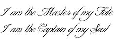 I am the Master of my Fate I am the Captain of my Soul Tattoo