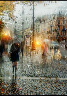 Gorgeous Waist Tutorials From Home Walking In The Rain, Singing In The Rain, Rain Photography, Amazing Photography, Rainy Window, I Love Rain, Rain Days, Autumn Rain, Umbrella Art