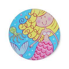 Mermaid Party Sticker Sheet