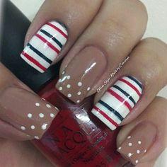 Nails ♥ Free Nail Technician Information Cute Nail Art, Beautiful Nail Art, Us Nails, Love Nails, Pretty Nail Designs, Nail Art Designs, Striped Nails, Nail Stripes, The Art Of Nails