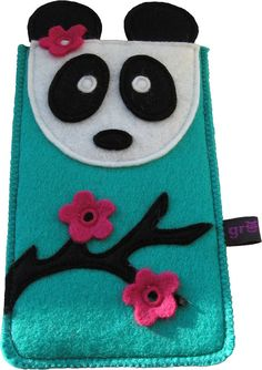 Panda Cell Phone Case. Love the color combination!