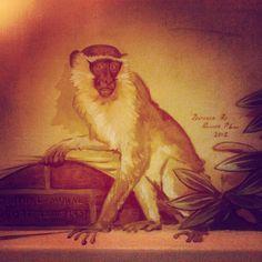 Mural. Monkey. Wells, Monkey, Restoration, Cinema, Painting, Art, Art Background, Jumpsuit, Movies