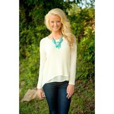 Woven In Time Sweater-Ivory - $40.00