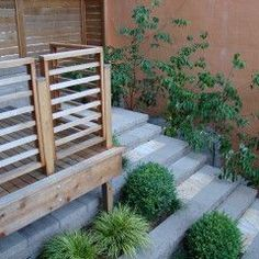 all wood deck rail with horizontal panels
