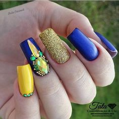 3d Nail Art, 3d Nails, Easy Nail Art, Love Nails, How To Do Nails, Gorgeous Nails, Pretty Nails, Bed Of Nails, Summer Acrylic Nails