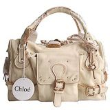 Chloe Paddington Satchel Beige Leather Handbag