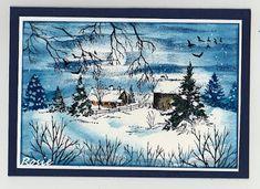Rosie's Bastelwelt: Winter / Winterlich - Serendipity Stamps - Stampscapes