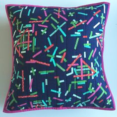 """Modern Tinsel Christmas Cushion Pillow cover 18"""" x 18"""" Mix and match"""