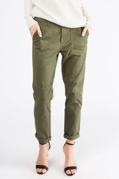 Girls Low Rise Tomboy In Olive